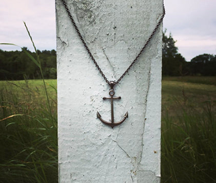 Ancla Anchor Pendant Black Diamonds in Maine