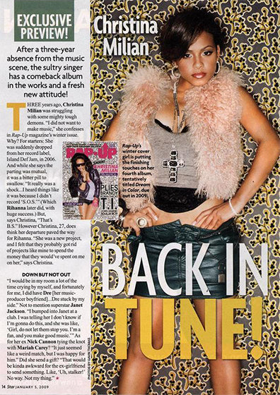 Christina Milian in Star Magazine