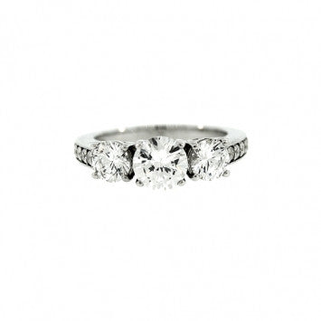 18k White Gold White Sapphire Ring Hamptons - Mander Jewelry