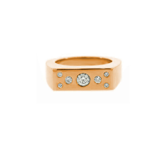 18k Rose Gold Diamond Ring Jackpot for Men by Mander Jewelry.