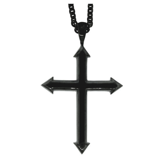 Blackened Silver Archer Cross Pendant - Mander Jewelry
