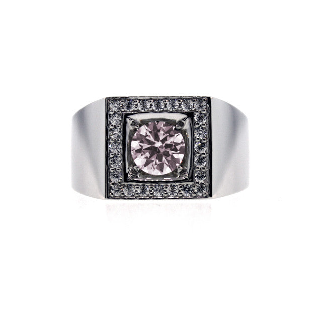 Platinum light Pink Sapphire and and Diamond Ring Jefe - Mander Jewelry