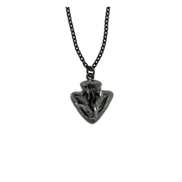 Blackened Silver Islander Arrowhead Pendant for Women - Mander Jewelry