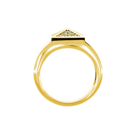 18k Yellow Gold Diamond Ring St Marks for Men - Mander Jewelry