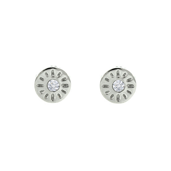 18k White Gold Diamond Earrings Timeless - Mander Jewelry