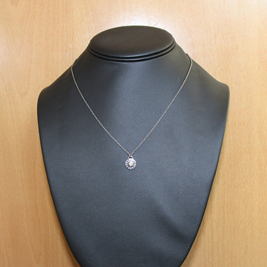 Blackened Silver Diamond Pendant Necklace Timeless - Mander Jewelry