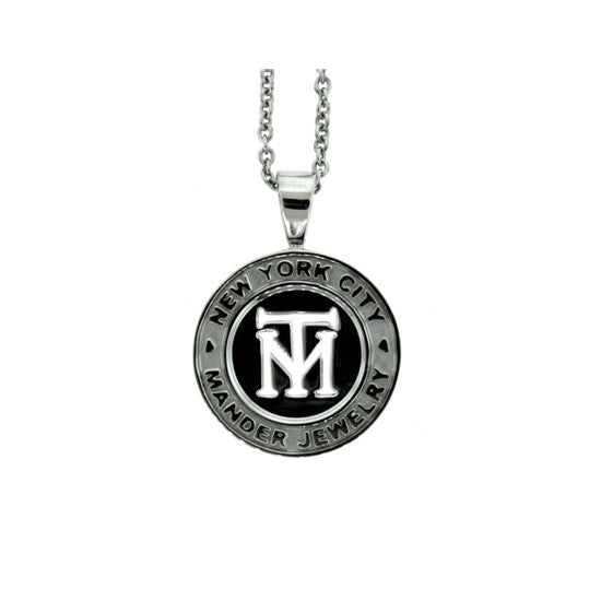 Silver NYC Token Pendant for Men - Mander Jewelry