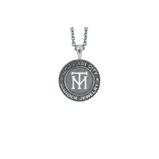 Silver NYC Token Pendant for Women - Mander Jewelry