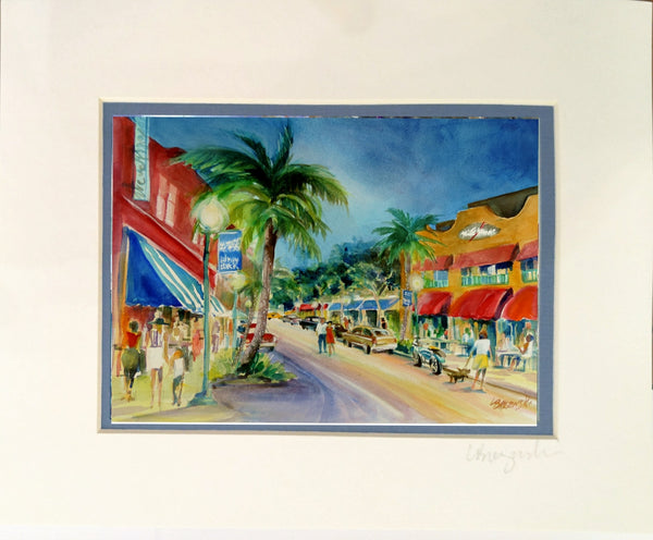 Matted Print 8x10  ATLANTIC AVE