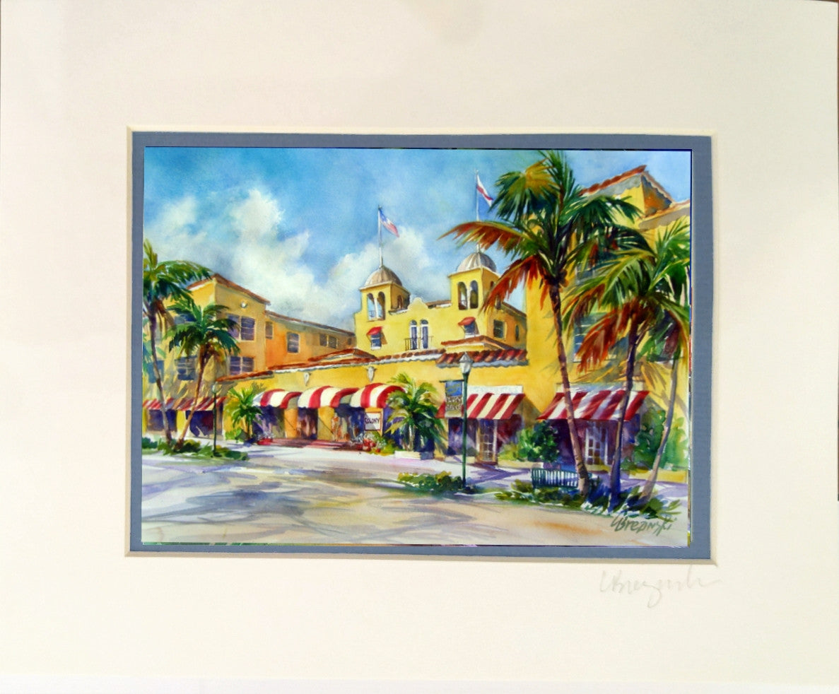 Matted Print 8x10  COLONY HOTEL
