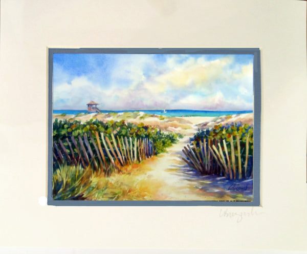 Matted Print  8x10 DUNE FENCE