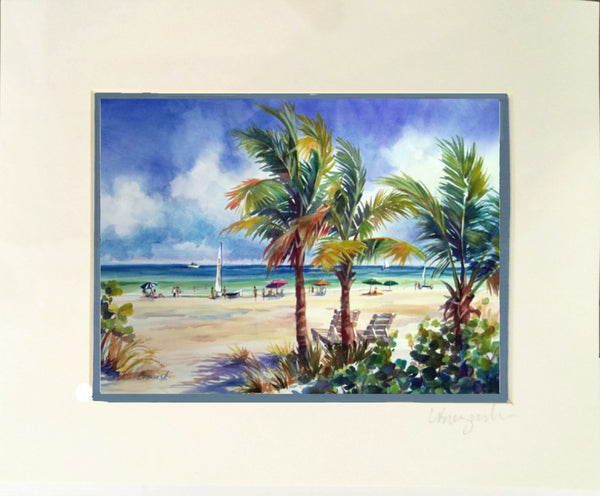 Matted Print  8x10 SOUTH END DELRAY