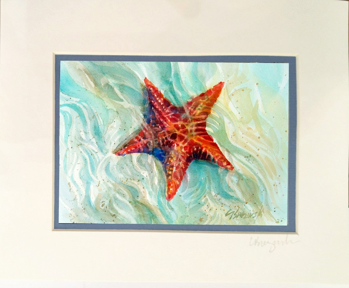 Matted Print 8x10  STARFISH