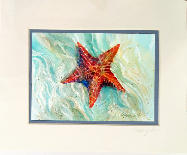 Matted Print  STARFISH