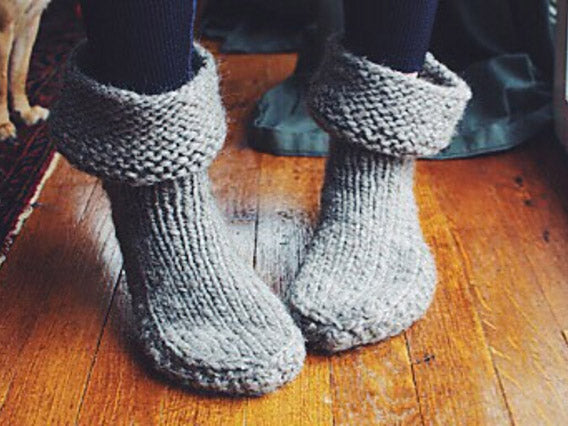 Self-Care Slipper Knit Along