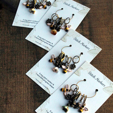 Bee and Bloom Stitch Markers