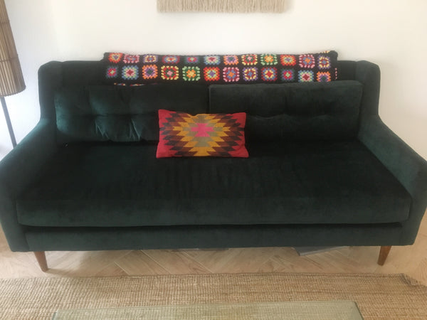 Couch with throw