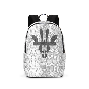 White Snakeskin Backpack