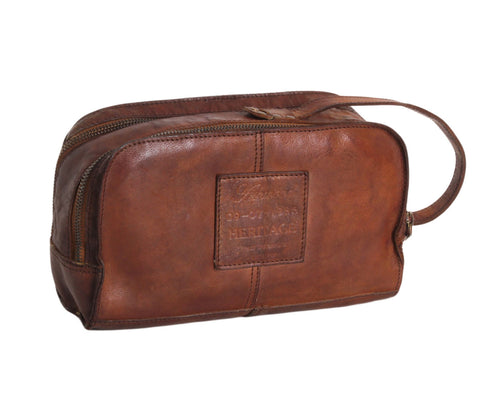 7998- Wash Bag in Rust