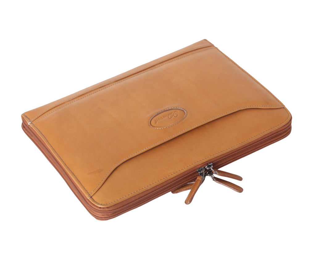8141 - Leather Tablet Organiser Sleeve Double Tan