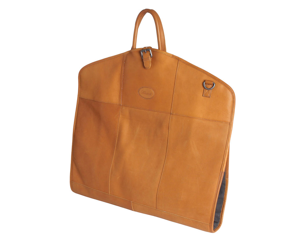 8145 - Ashwood Columbian Leather Suit Carrier Tan