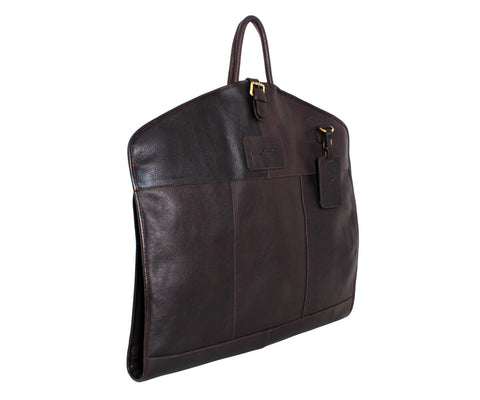 Harper - Ashwood Leather Suit Carrier Brown