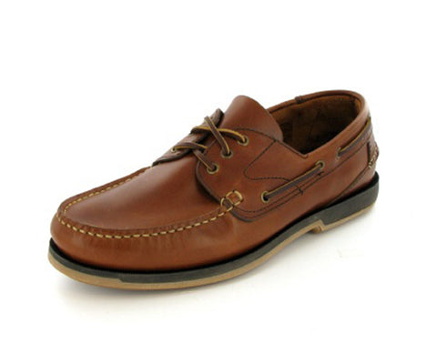 521 - Tan Waxy Deck Shoe