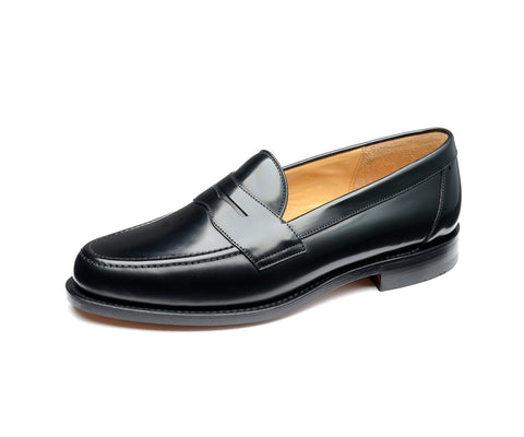 Eton - Black Polished Leather Loafer