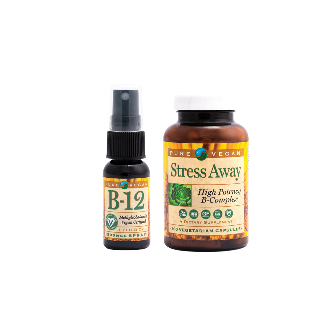Pure Vegan B12 + Stress Away