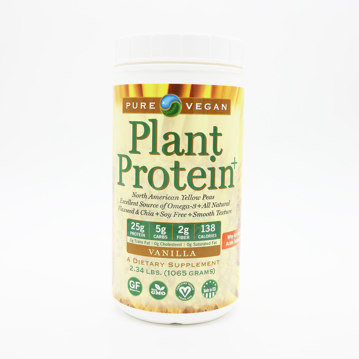 Pure Vegan Plant Protein + Flax and Chia