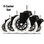Set of 5 Rollerblade Office Chair Wheels 2.5""