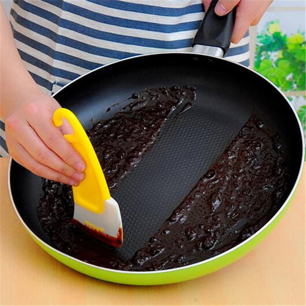 1Pcs Silicone Non-Stick Oil Pot Scraper
