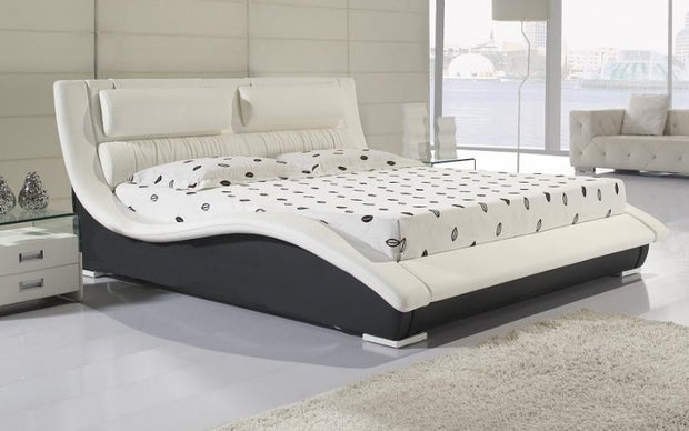Designer modern real genuine leather bed