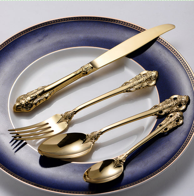 Western Gold Plated Cutlery