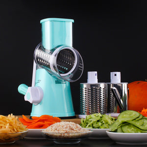Round Slicer Graters Vegetable Cutter Manual Potato Carrot Plastic Slicer Cheese Grater Stainless Steel Blades Kitchen Tool