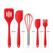 Set of 10pcs Silicone Kitchen Cooking Utensils Premium Heat Resistant and Non-Stick Kitchen Baking Tools