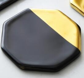 Goldblack Cup mats tabletop
