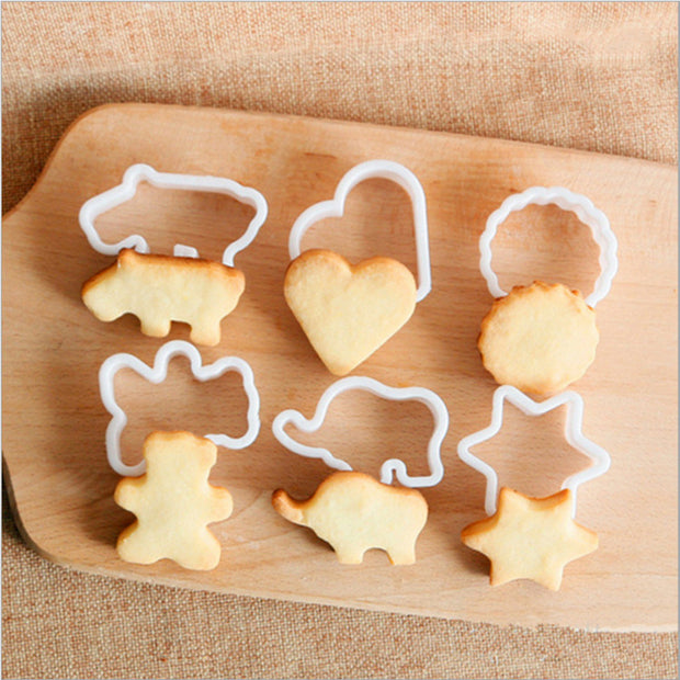 BalleenShiny 6pcs/set Animal Cookies Cutter
