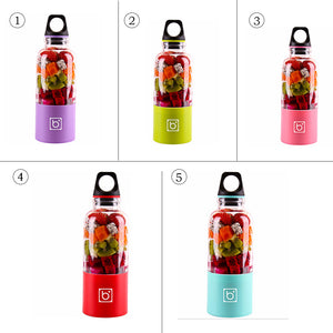 500ml Electric Juicer Cup Mini Portable USB Rechargeable Juicer Blender Maker Shaker Squeezers Fruit Orange Juice Extractor