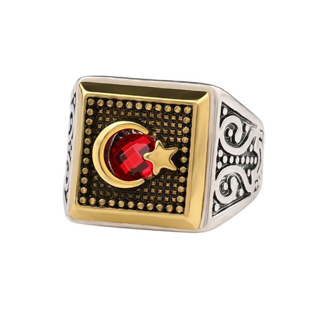 King Queen Crown Signet Ring