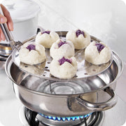 1Pc Durable Stainless Steel Round Steamer