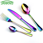Black Rainbow Rose Gold Cutlery