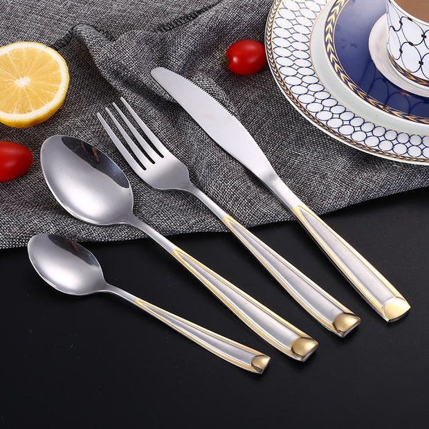 Gold Plate Stainless Steel Cutlery