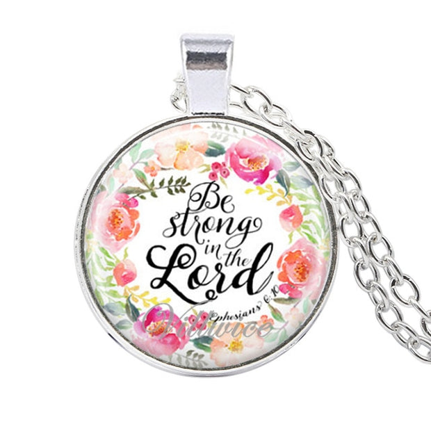 Bible verse necklace