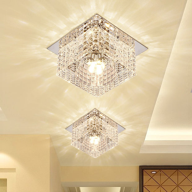 Modern Crystal Glass LED Ceiling Light