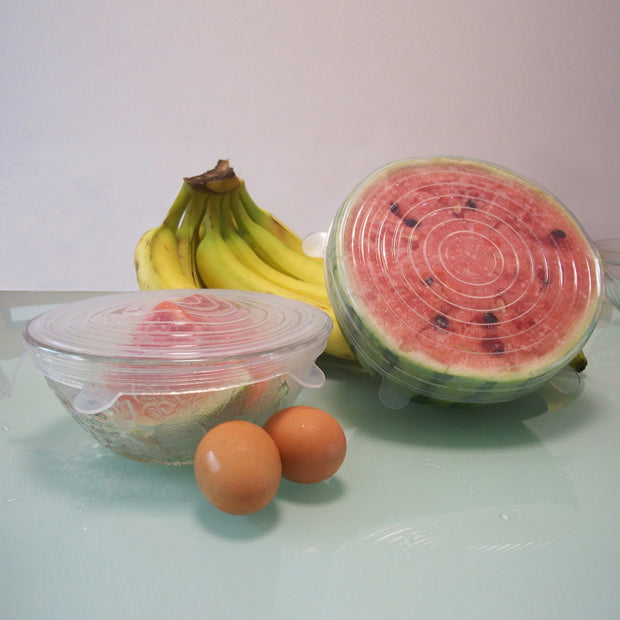 Silicone food wrap bowl