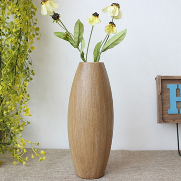 Retro wood flower arrangement Bedroom coffee shop decorative vase