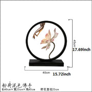 Modern new Chinese lotus flower table lamp