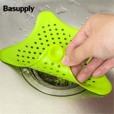 1Pc Star Sewer Outfall Strainer Bathroom Sink Filter