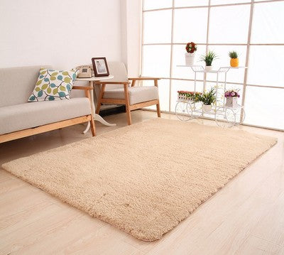 Living Room Rug Area Solid Carpet